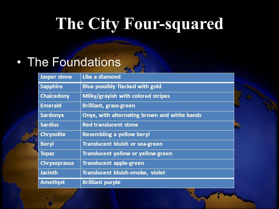 The City Four-squared The Foundations Jasper stone Like a diamond
