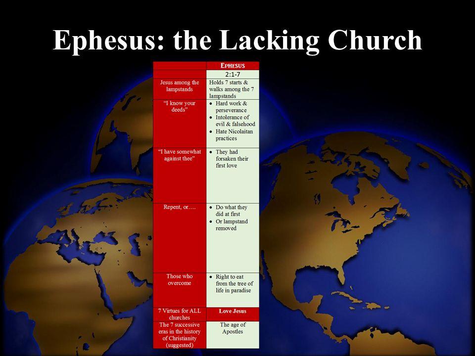 Ephesus: the Lacking Church