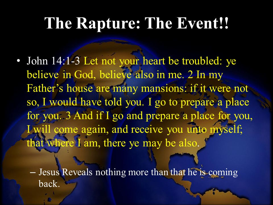 The Rapture: The Event!!