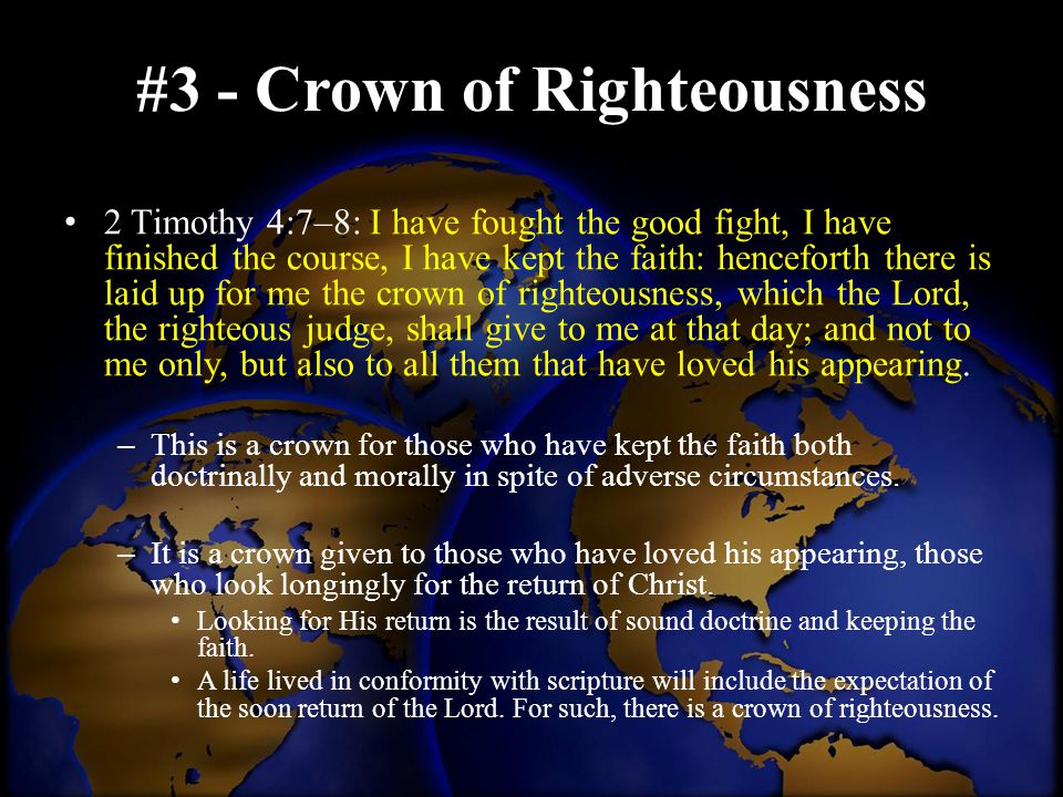#3 - Crown of Righteousness