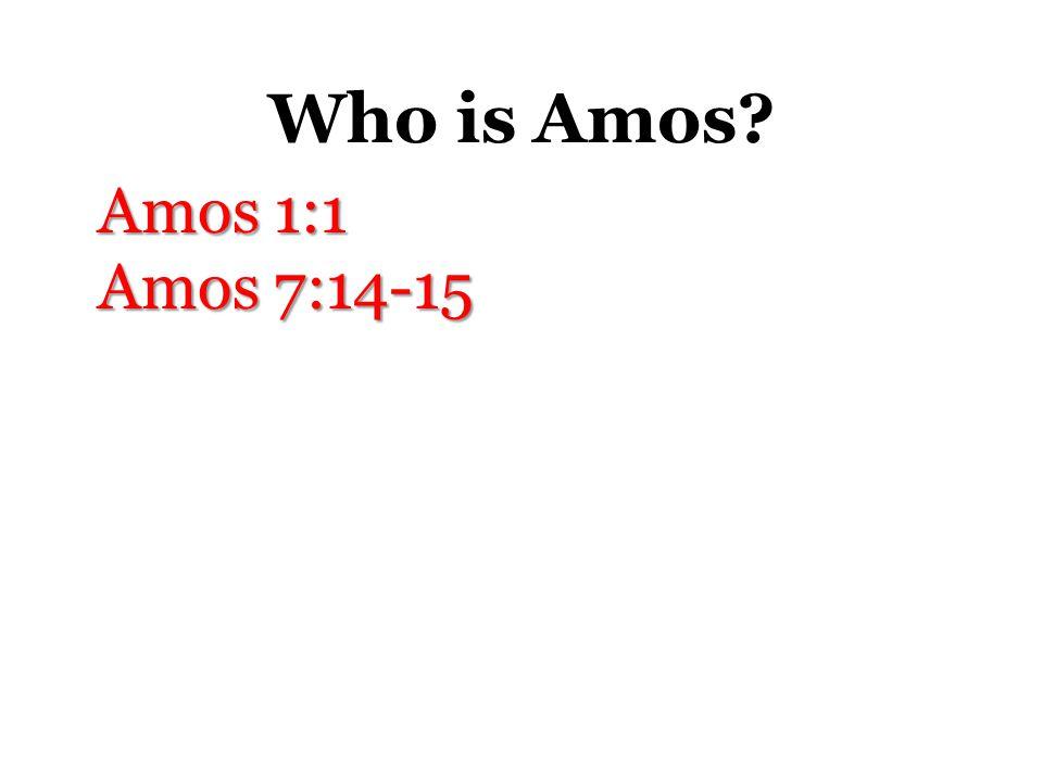 Who is Amos Amos 1:1 Amos 7:14-15