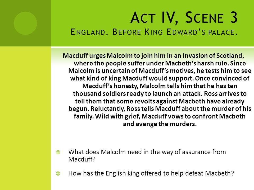 Act IV, Scene 3 England. Before King Edward's palace.