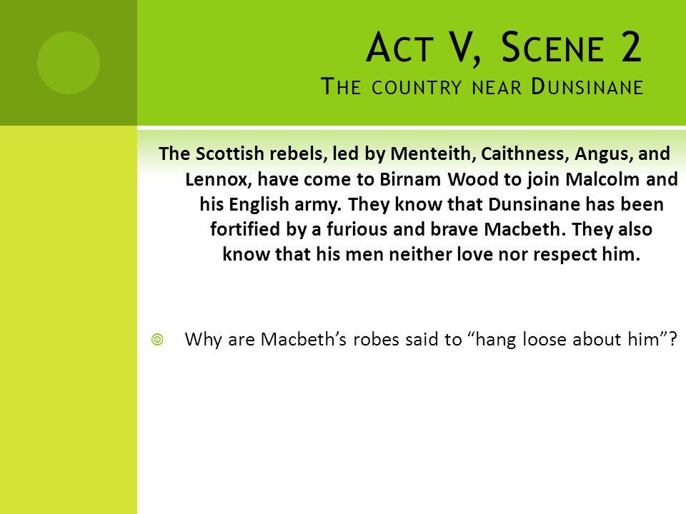 Act V, Scene 2 The country near Dunsinane
