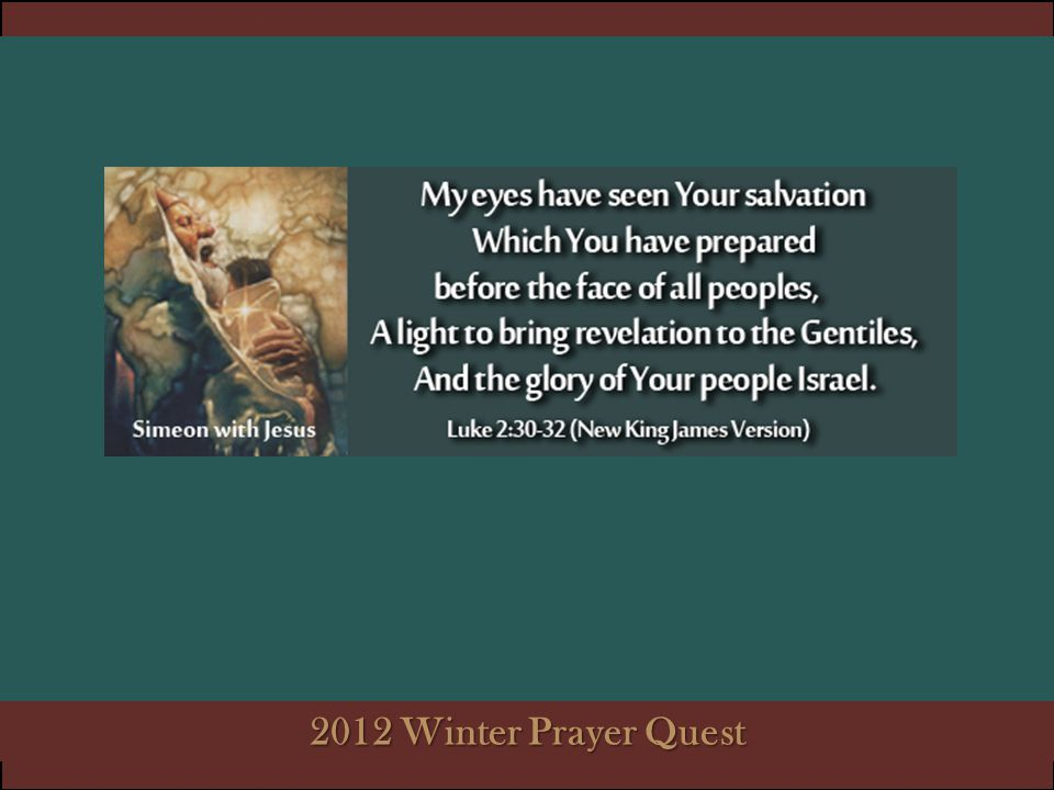 2012 Winter Prayer Quest