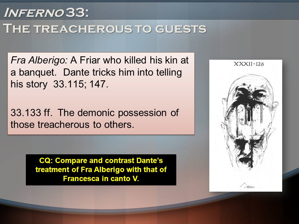 Inferno 33: The treacherous to guests