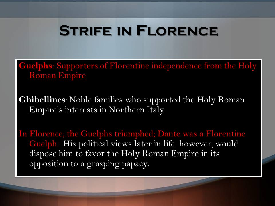 Strife in Florence