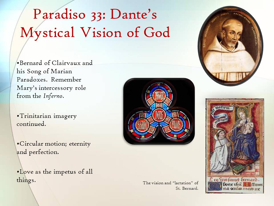 Paradiso 33: Dante's Mystical Vision of God