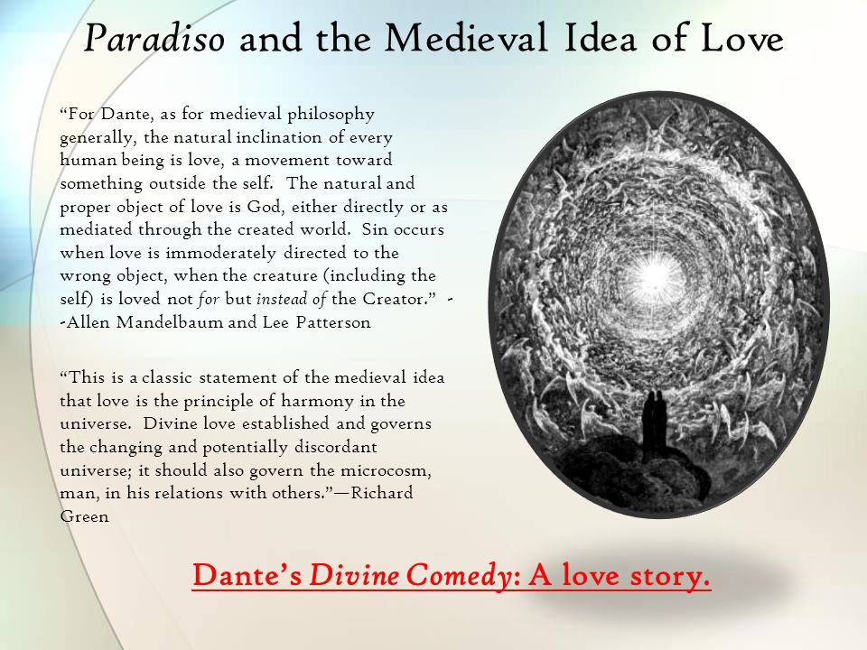 Paradiso and the Medieval Idea of Love