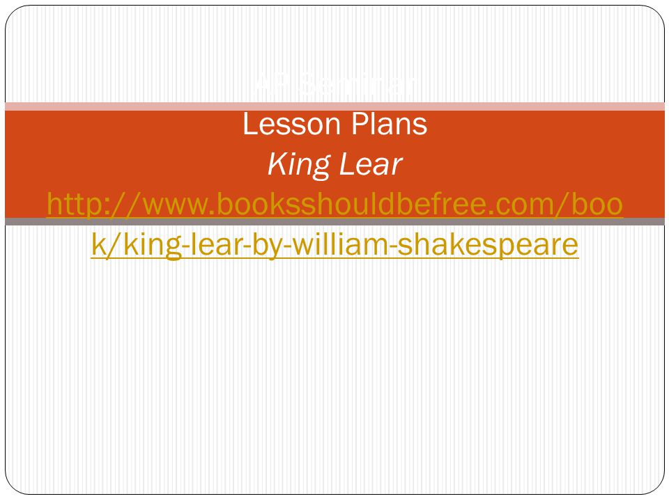 Lesson Plans The Pale King
