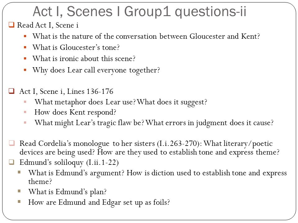 Act I, Scenes I Group1 questions-ii