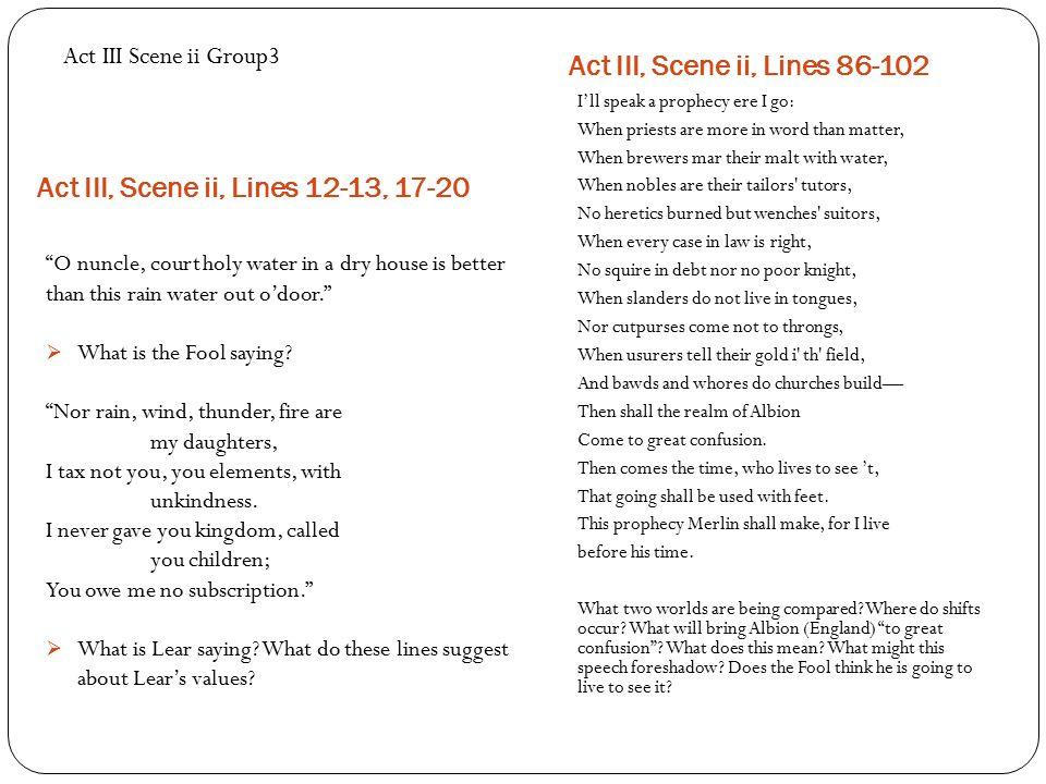 Act III, Scene ii, Lines 12-13, 17-20