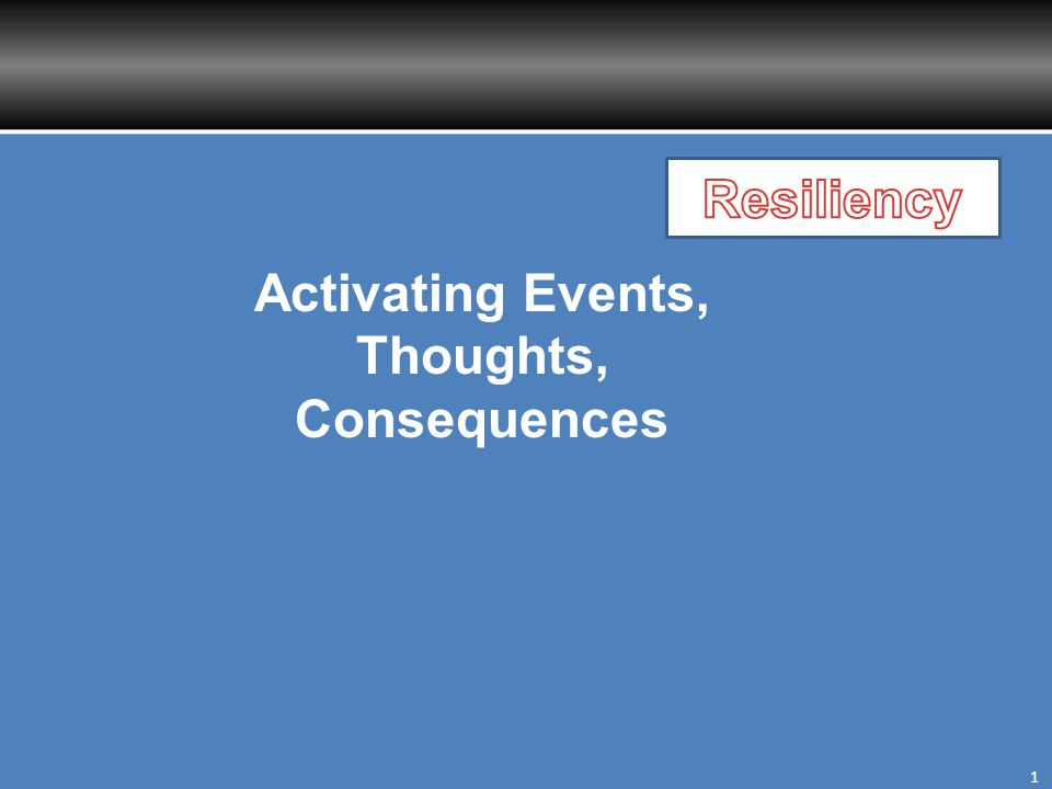 Activating Events, Thoughts, Consequences