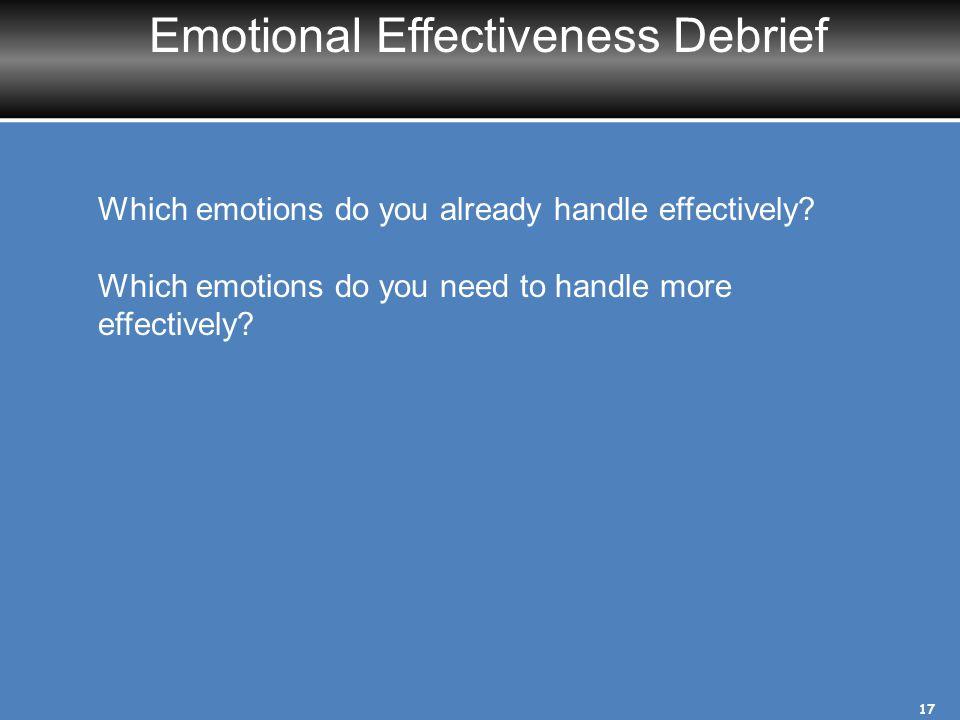 Emotional Effectiveness Debrief