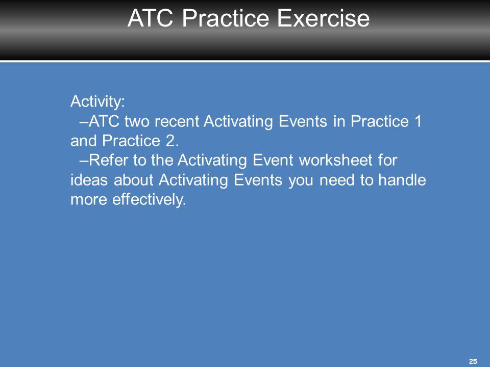 ATC Practice Exercise Activity: