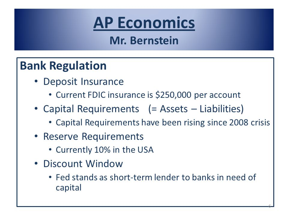 AP Economics Mr. Bernstein