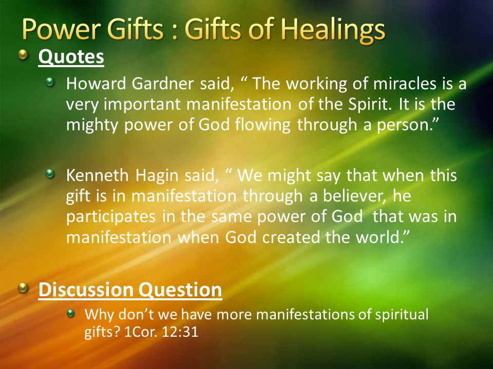 Power Gifts : Gifts of Healings