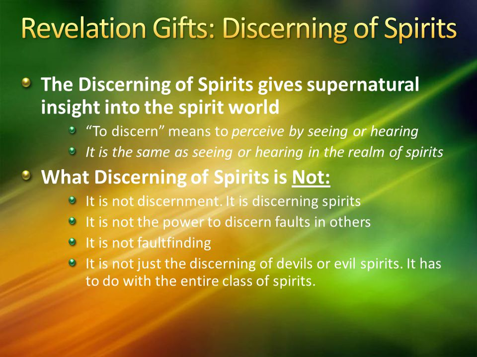 Revelation Gifts: Discerning of Spirits