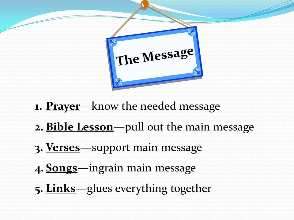 The Message Prayer—know the needed message