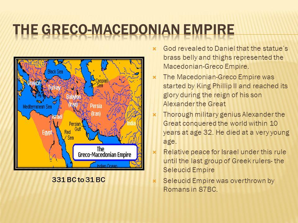 The GRECO-MACEDONIAN EMPIRE