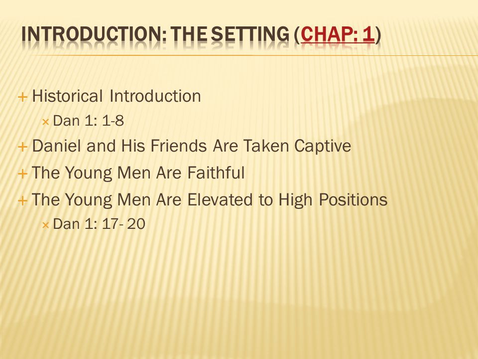 introduction: The Setting (chap: 1)