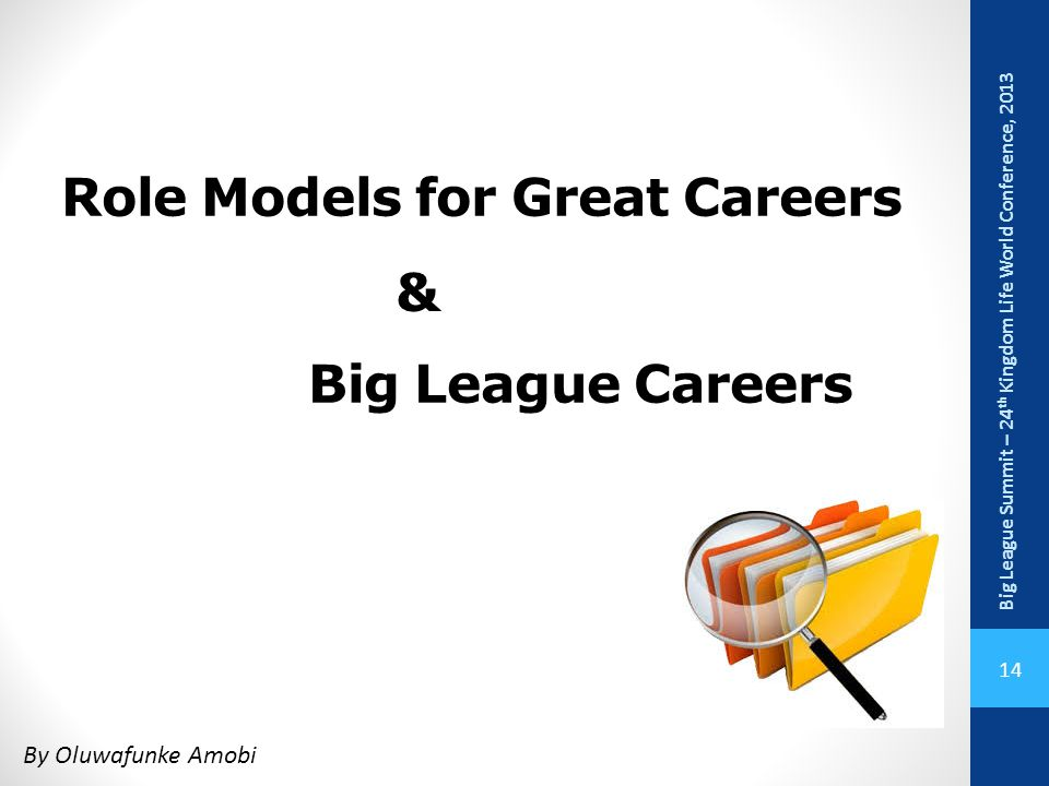 Role Models for Great Careers