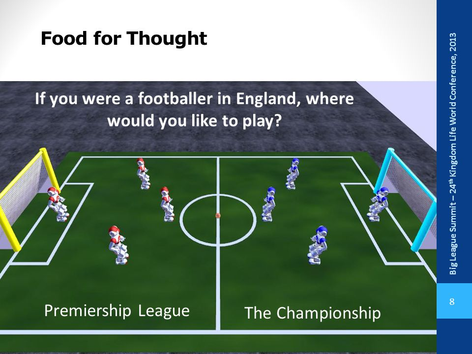 If you were a footballer in England, where would you like to play