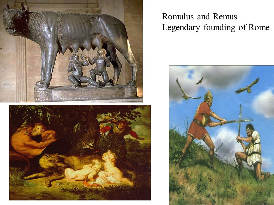 Romulus and Remus Legendary founding of Rome
