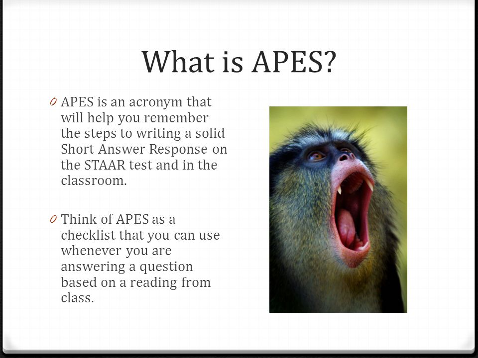 What is APES