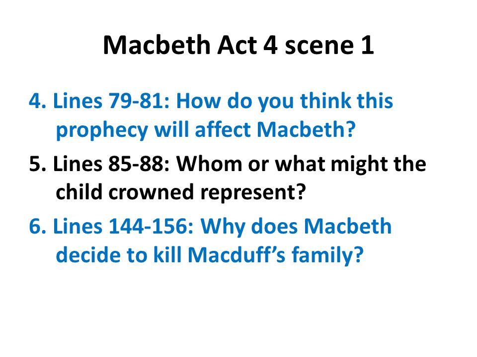 Macbeth Act 4 scene 1