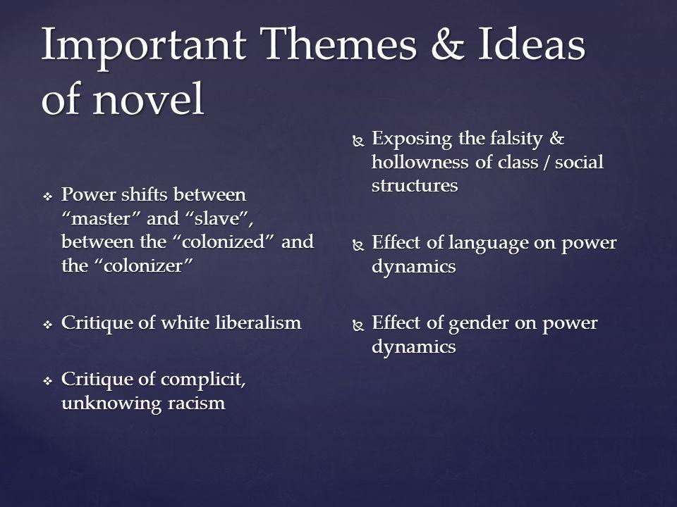Important Themes & Ideas of novel