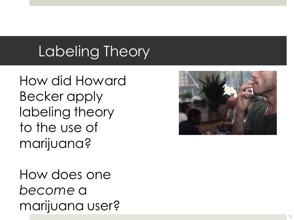 Labeling Theory How did Howard Becker apply labeling theory