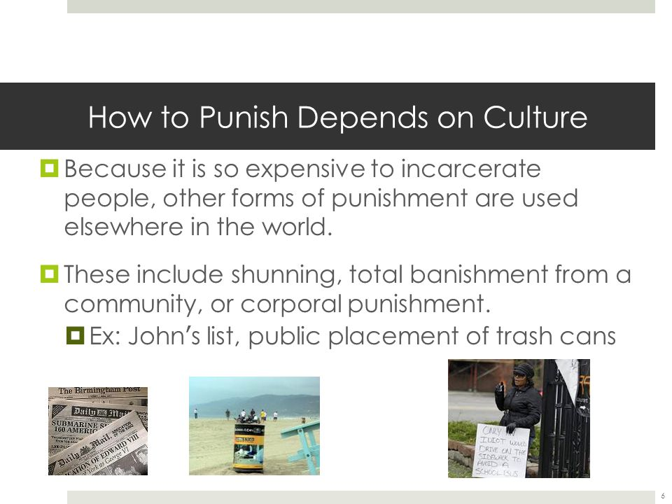 How to Punish Depends on Culture