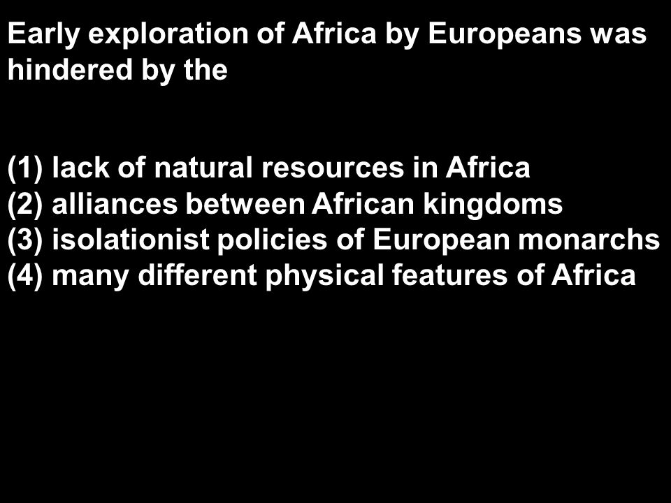 Early exploration of Africa by Europeans was