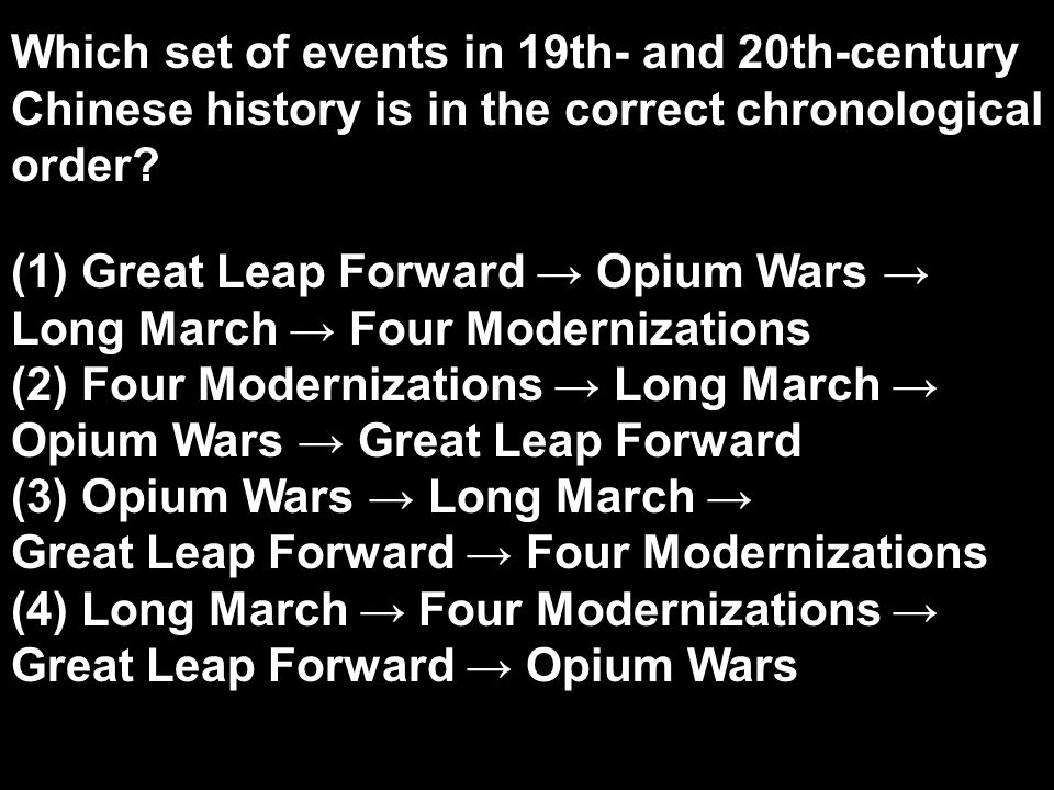 Which set of events in 19th- and 20th-century