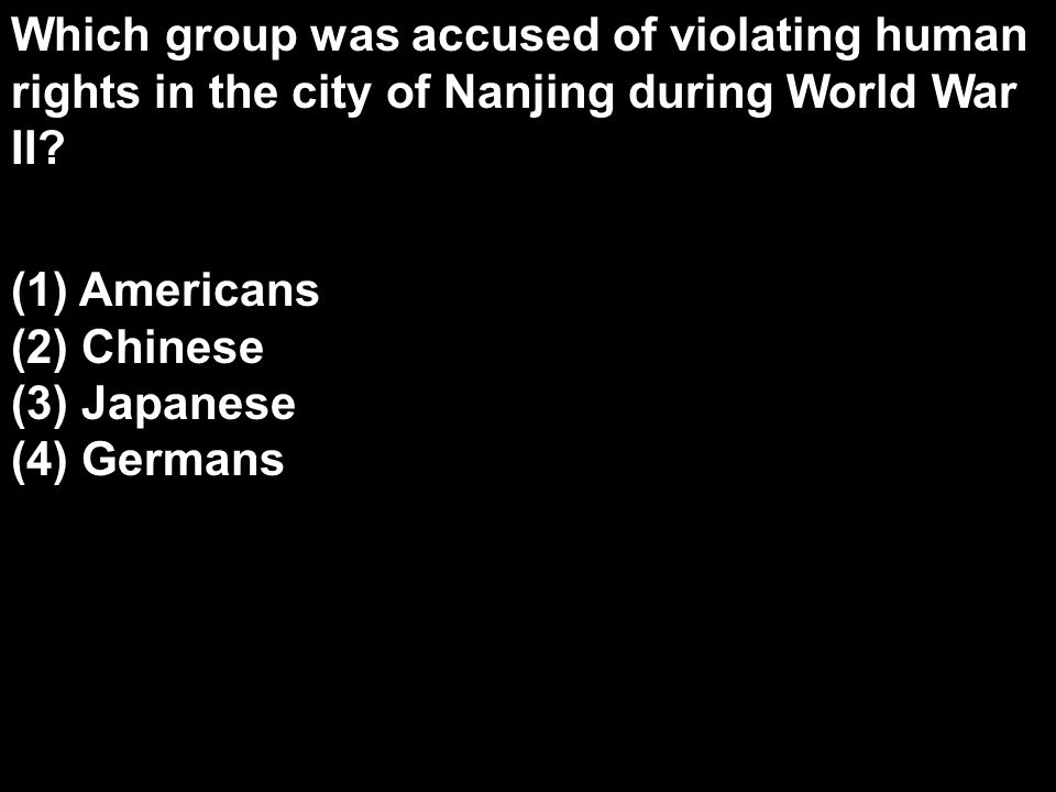 Which group was accused of violating human