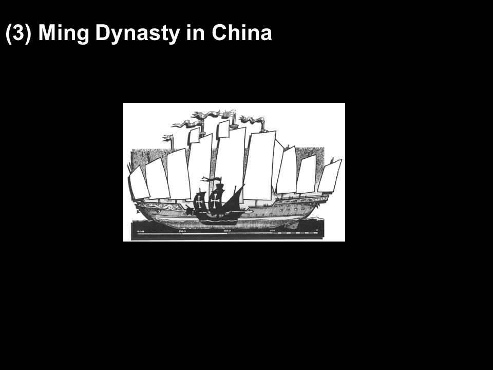 (3) Ming Dynasty in China