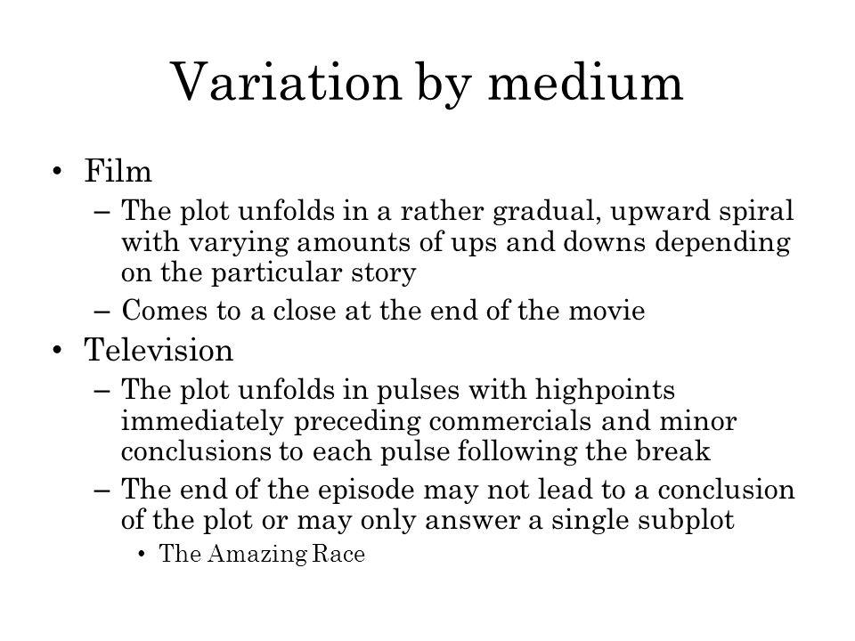 Variation by medium Film Television