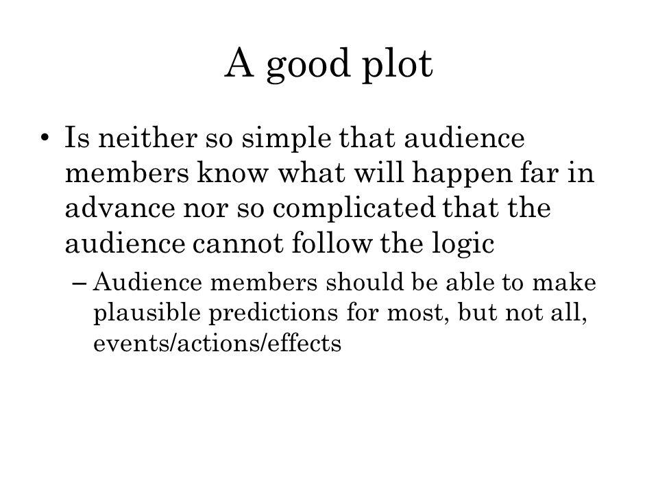 A good plot