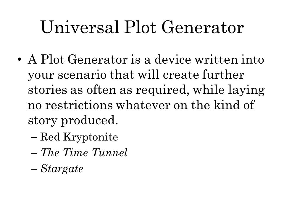 Universal Plot Generator