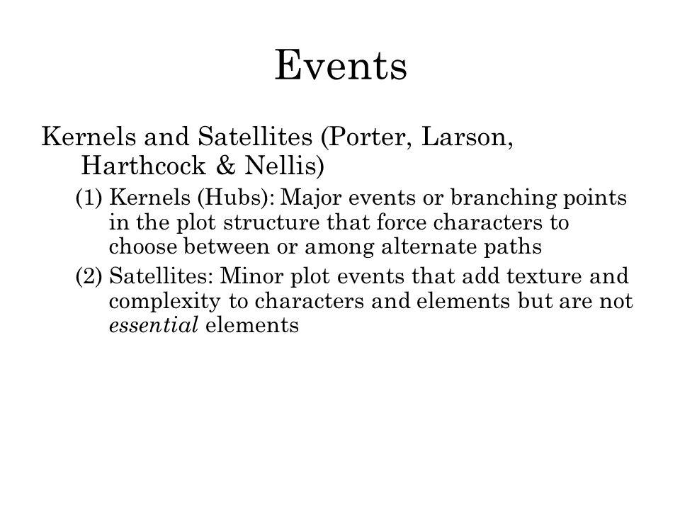 Events Kernels and Satellites (Porter, Larson, Harthcock & Nellis)