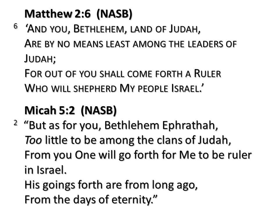 Matthew 2:6 (NASB)