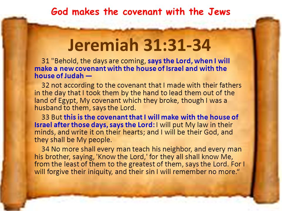 God makes the covenant with the Jews