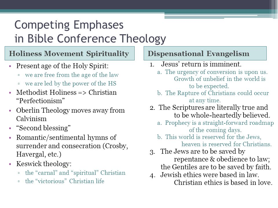 Competing Emphases in Bible Conference Theology