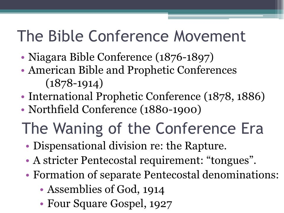 The Bible Conference Movement