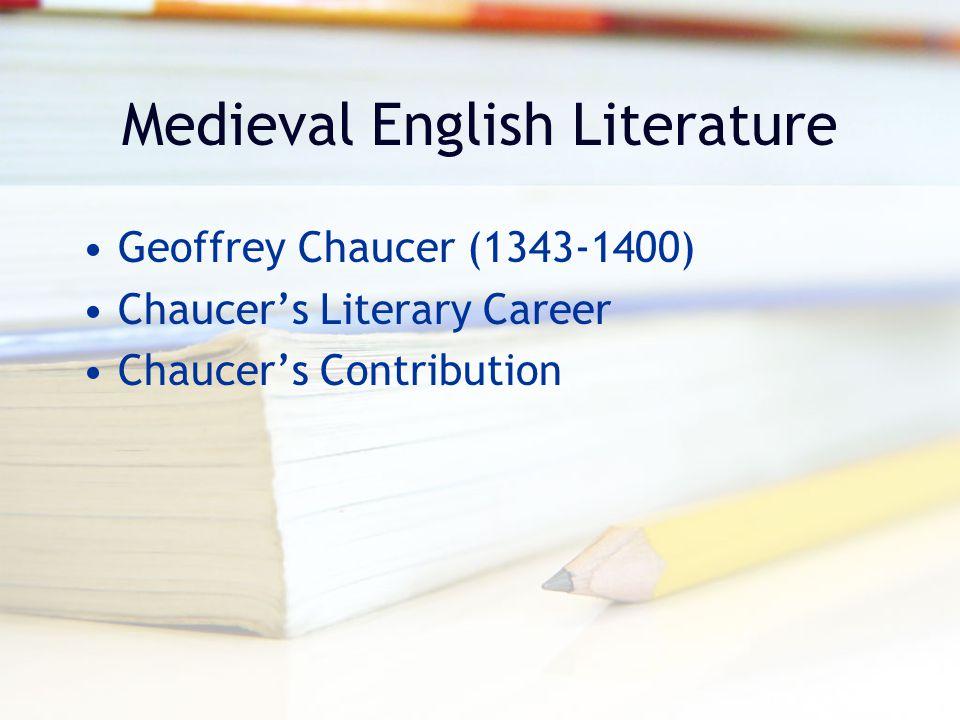 Medieval English Literature