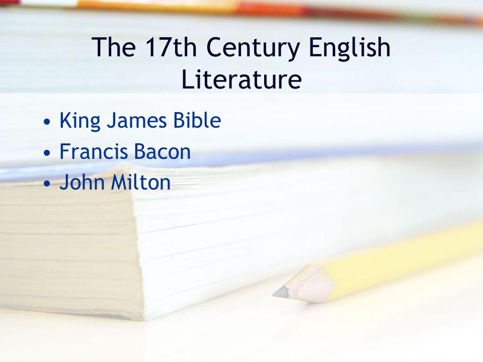 The 17th Century English Literature