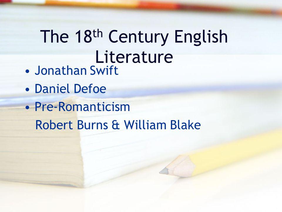 The 18th Century English Literature