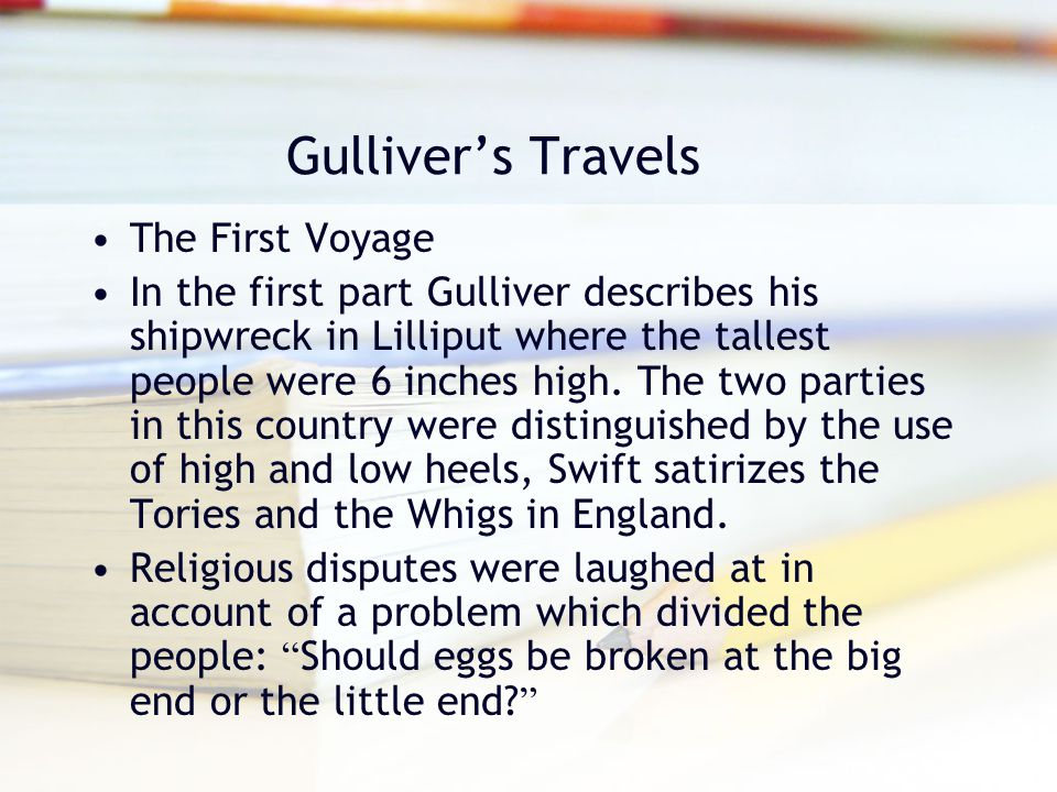 Gulliver's Travels The First Voyage
