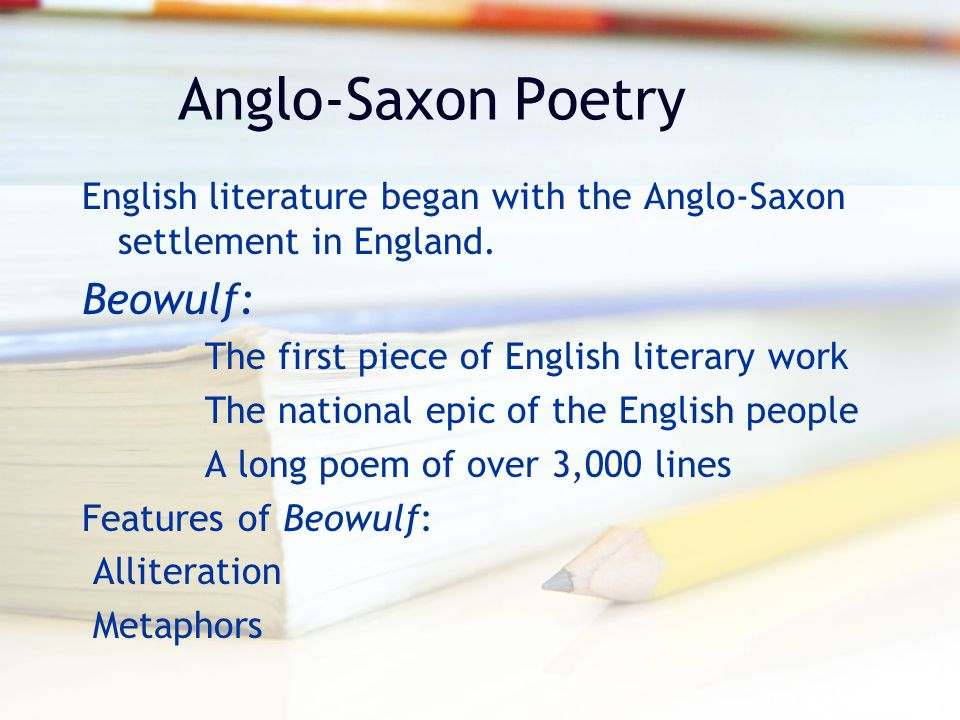 Anglo-Saxon Poetry Beowulf:
