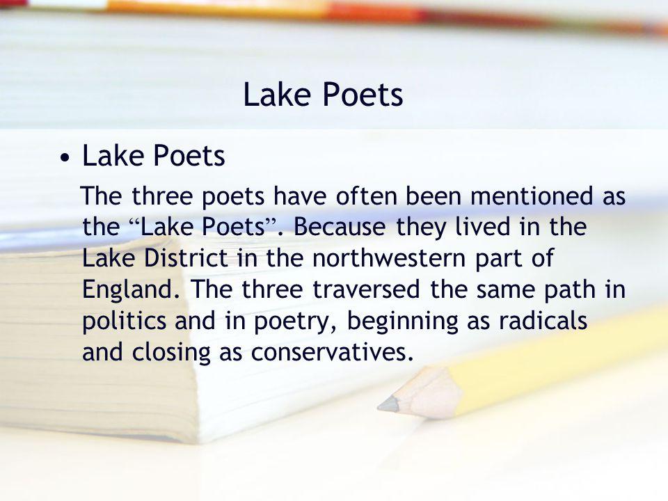 Lake Poets Lake Poets.